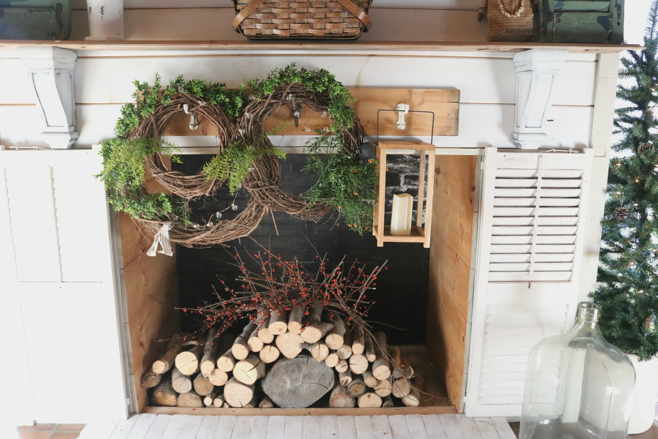 using nature to decorate for a natural approach at Breezy Green Home